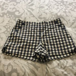 Loft high waisted checkered sailor shorts